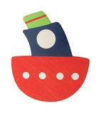 Wooden ship toy for kids Royalty Free Stock Images