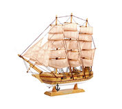 Wooden ship toy model Stock Images