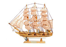 Wooden ship toy model Stock Photos