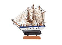 Wooden ship toy model Royalty Free Stock Photography