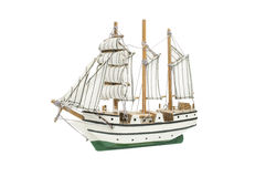 Wooden ship toy model Royalty Free Stock Photos