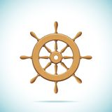 Wooden ship wheel Royalty Free Stock Image