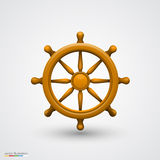 Wooden ship wheel Stock Image