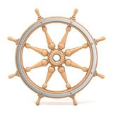 Wooden ship wheel 3D royalty free illustration
