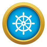 Wooden ship wheel icon blue vector isolated. On white background for any design vector illustration