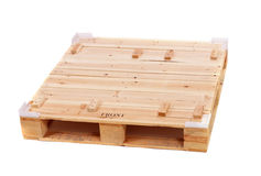 Wooden shipping pallet Royalty Free Stock Photos