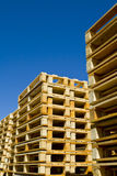 Wooden Shipping Pallets stock images