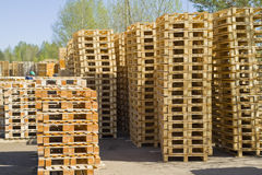 Wooden Shipping Pallets Stock Photo