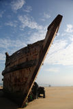 Wooden  shipwreck Royalty Free Stock Image