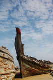 Wooden  shipwreck Stock Photography