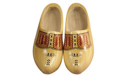 Wooden shoe. S isolated on a white background Stock Image