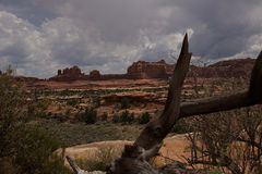 Wooden Shoe Arch B. Wooden Shoe Arch in Needles Region of Canyonlands National Park Stock Image