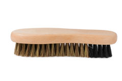 Wooden shoe brush Royalty Free Stock Photo