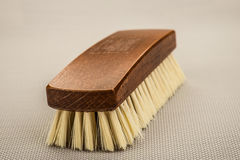 Wooden shoe brush Stock Image