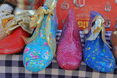 Wooden shoe form cobblers, Majorca, Balearic Islands royalty free stock photo