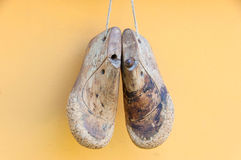 Wooden shoe form Royalty Free Stock Images