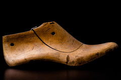 Wooden shoe last Royalty Free Stock Images