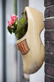 Wooden shoe with plant Royalty Free Stock Images
