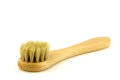 Wooden shoe polishing brush Royalty Free Stock Image