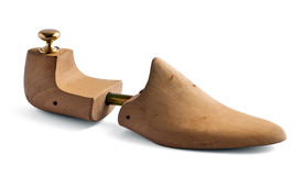 Wooden shoe tree Stock Images