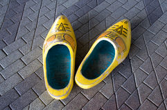 Wooden shoes Stock Images