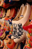 Wooden shoes in Amsterdam Royalty Free Stock Photo