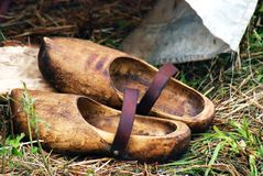 Wooden shoes - clogs Royalty Free Stock Photo