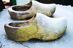 Wooden shoes in Holland stock images
