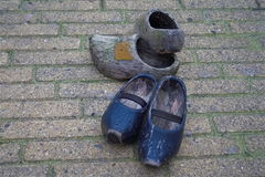 Wooden shoes klompen Stock Images
