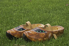 New wooden Dutch clogs Royalty Free Stock Photography
