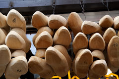 Wooden Shoes for Sale, Brugge, Belgium Royalty Free Stock Photos