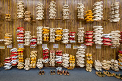 Wooden Shoes for sale Stock Photos