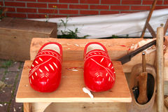 Wooden Shoes and Tools Stock Image