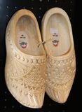 Wooden Shoes for wedding, Amsterdam, Holland Stock Photo