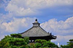 Wooden shrine of old temple, Kyoto Japan. Royalty Free Stock Photo