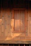 Wooden shutter. Shutters on a wooden Thai house stock photos