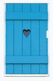 Wooden shutter with a carved heart Stock Photos