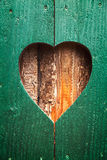 Wooden shutter with heart Royalty Free Stock Photos