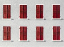 Wooden shutter in intensive color gives a harmonic background. Wooden shutter in intensive color with white wall gives a harmonic background stock photos