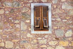 Wooden shutter and window Stock Image