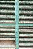 Wooden shuttered window Stock Image
