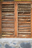 Wooden shuttered window Royalty Free Stock Photography