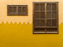 Wooden Shuttered Windows Gran Canaria Spain Royalty Free Stock Photos