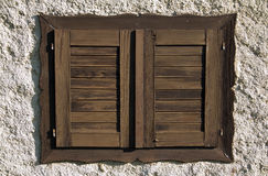 Wooden Shutters Royalty Free Stock Photo