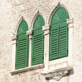 Wooden shutters Royalty Free Stock Images