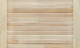 Wooden shutters, blinds with natural structure. Textured background royalty free stock photography