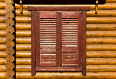 Wooden shutters detail image Stock Photography