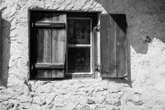 Wooden shutters on window Stock Photos