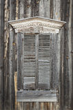 Wooden Shutters on Window of Old Building Royalty Free Stock Image