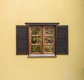 wooden shutters Stock Photos